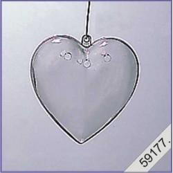Plastic hart 10 cm