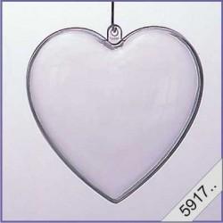 Plastic hart 6 cm