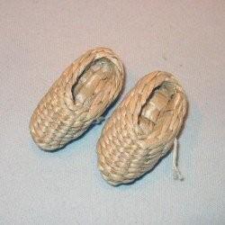 Stro-pantoffels klein ( 1 paar)