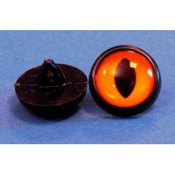 Kunststof ogen 12 mm Oker / Oranje (per paar)