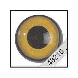 Uilen ogen geel ( 1 paar)