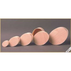Houten ovale ( spanen) doosjes