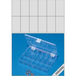 Transparante 12 vaks opberbox