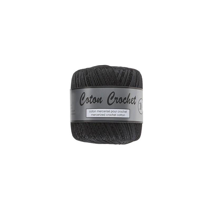 Coton Crochet No. 10 - 001 Zwart