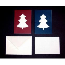 Kerstboom kaartset A5 Kaart + Enveloppe + Inlegvel