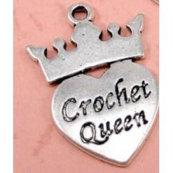 """Bedeltje """"Crochet Queen"""""""