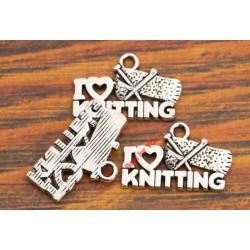 """Bedeltje """"I Love Knitting"""""""