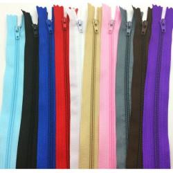 Gekleurde nylon rits 40 cm. lang