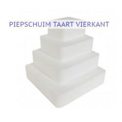 Styropor Vierkante  (Piepschuim)  Taarten