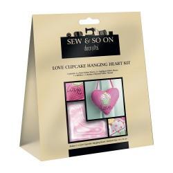 Love Cupcake Hanging Heart Kit