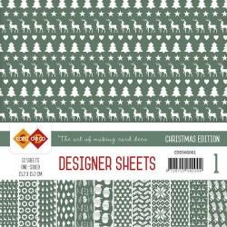 Card Deco - Designer Sheets -  Christmas Edition - kerstgroen