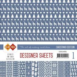 Card Deco - Designer Sheets -  Christmas Edition - ultramarijn