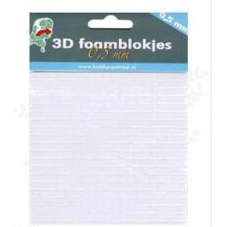 Foamblokjes 0,5 mm dik  (Hobbycentraal)