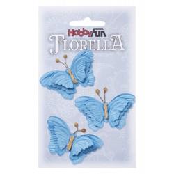 FLORELLA-Vlinders blau, 6 cm