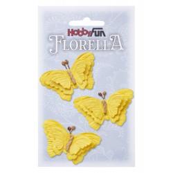 FLORELLA-Vlinders gelb, 6 cm