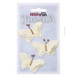 FLORELLA-Vlinders creme, 6 cm
