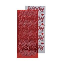 Stickervel - Kerst mirror Rood