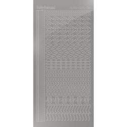 Hobbydots sticker vel 018 - Mirror Silver