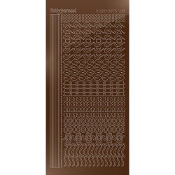 Hobbydots sticker vel 018 - Mirror Brown