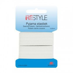 Pyama Elastiek Wit 25 mm breed