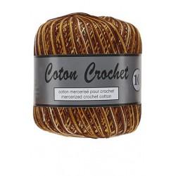 Coton Crochet No. 10 423 Bruin Geel Gemelleerd