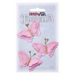 FLORELLA-Vlinders rose, 6 cm