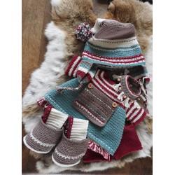XXL Funny kledingset Christmas Nordic girl