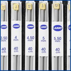 Lammy breinaalden Kunststof ABS Grijs - 40 cm