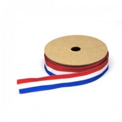Ribslint Rood-Wit-Blauw 15mm (rol 3mtr)